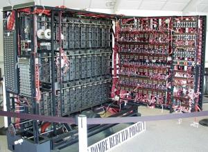 Una bombe, máquina diseñada para descifrar mensajes de los nazis