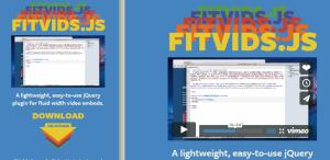 Fitvids.js: misma web, distinto tamaño del vídeo.