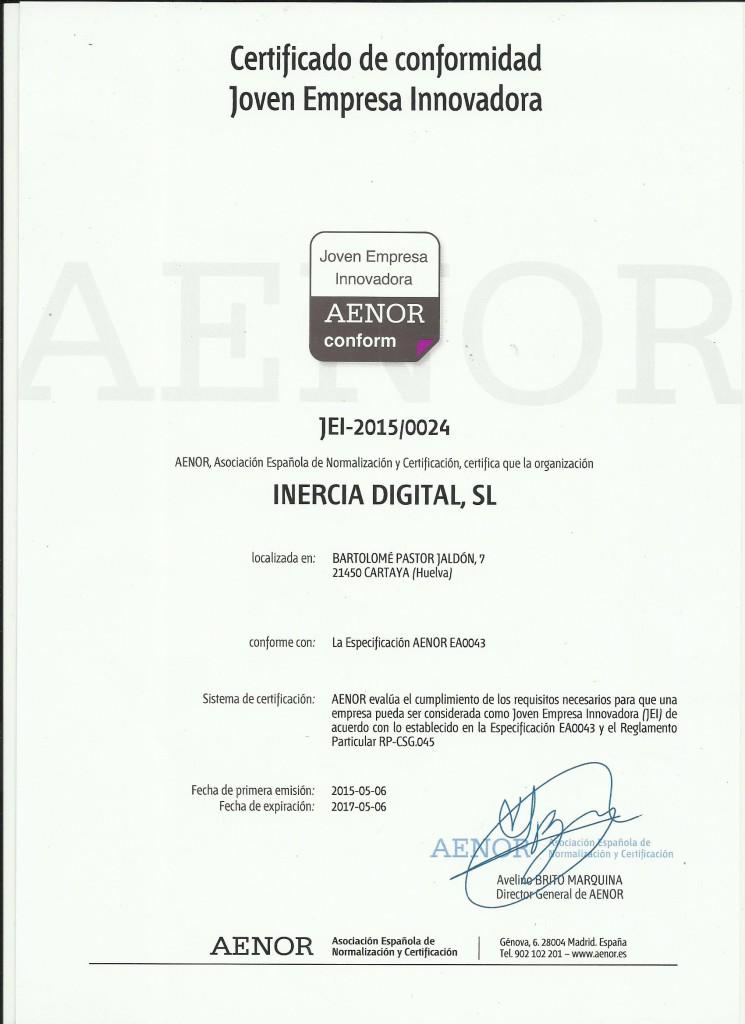 Certificado de JEI